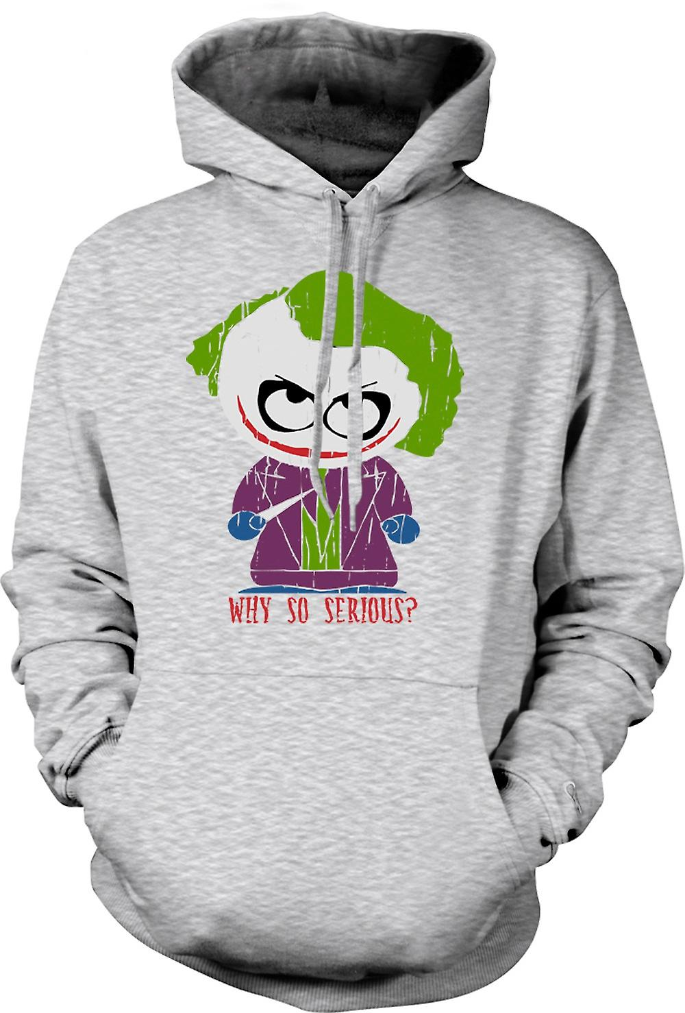 Mens Hoodie - Cute Joker - Why So Serious