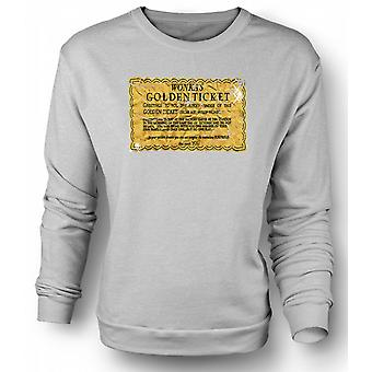 Sweatshirt Willy Wonka Golden Ticket - Funny