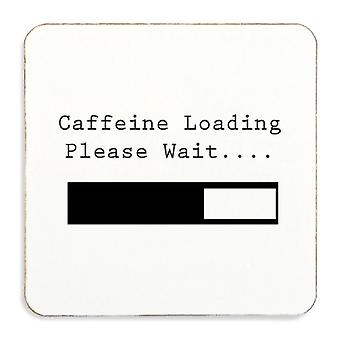 Caffeine Loading Please Wait Cork Coaster