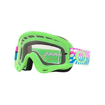 Oakley Braking Bumps Green-Pink-Clear 2019 O Frame MX Goggle