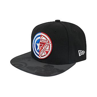 New Era 9Fifty Captain America Civil War Logo Viza Print Snapback Cap Black