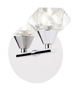 Endon ARIETTA-1WBCH Single Crystal Wall Light In Chrome