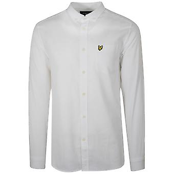 Lyle & Scott  Lyle & Scott White Linen Long-Sleeve Shirt