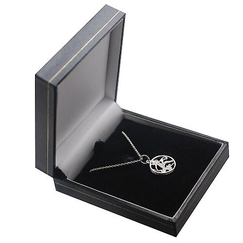 Silver 11mm pierced Virgo Zodiac Pendant with a rolo Chain 18 inches