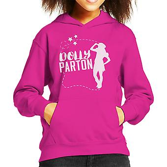 Dolly Parton Cowgirl Silhouette Kid's Hooded Sweatshirt
