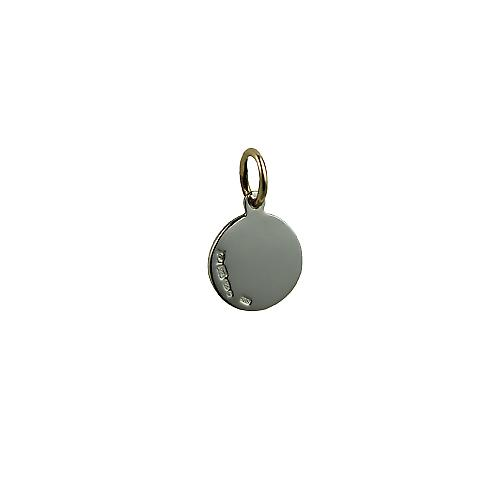 1/20th 14ct yellow gold on Silver 10mm round St Christoper Pendant or Charm Only Suitable for Children