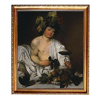 Med ram Bacchus,Caravaggio,61x51cm