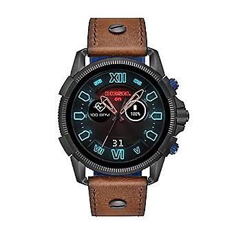 Diesel digital watch with leather strap DZT2009