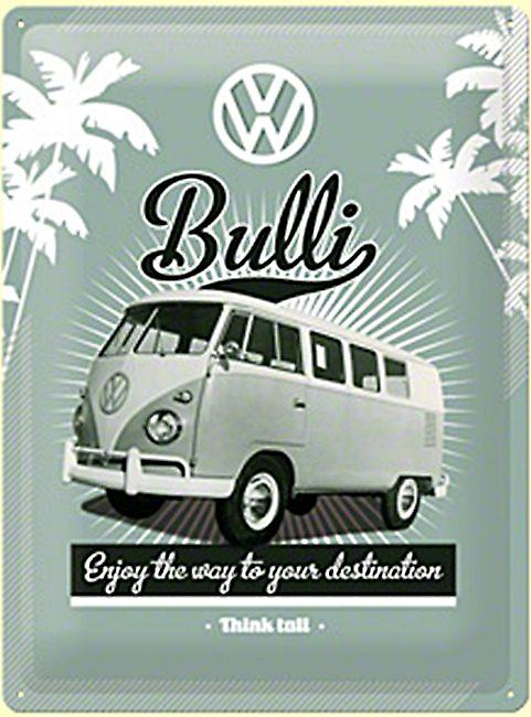 VW Volkswagen Bulli large embossed metal sign  (na3040)