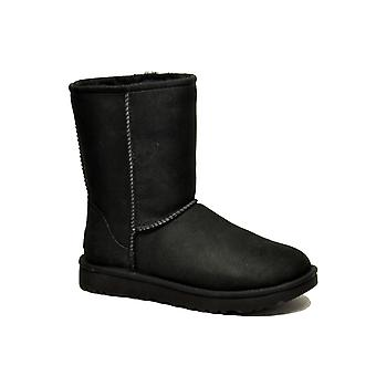 Ugg Black Leather Ankle Boots