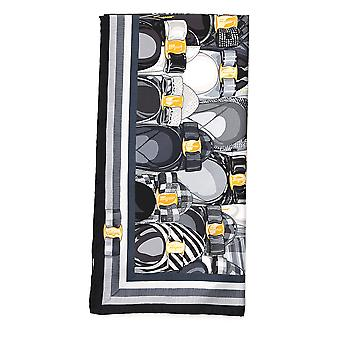 Salvatore Ferragamo White/black Silk Scarf