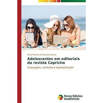 Adolescentes em editoriais da revista Capricho de Martins de Quadros Olmos Olvia plat