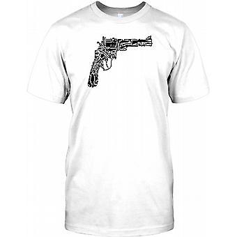 Colt 45 Gun Collage - Pistol Inspired Mens T Shirt