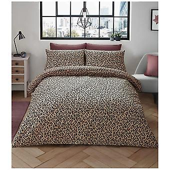 Animal Leopard Skin Duvet Quilt Cover Reversible Bedding Set Pillow Case
