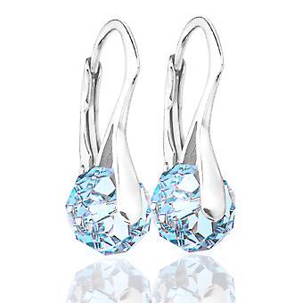 Briolette de superbes femmes rondes cristaux de boucles d'oreilles Swarovski®