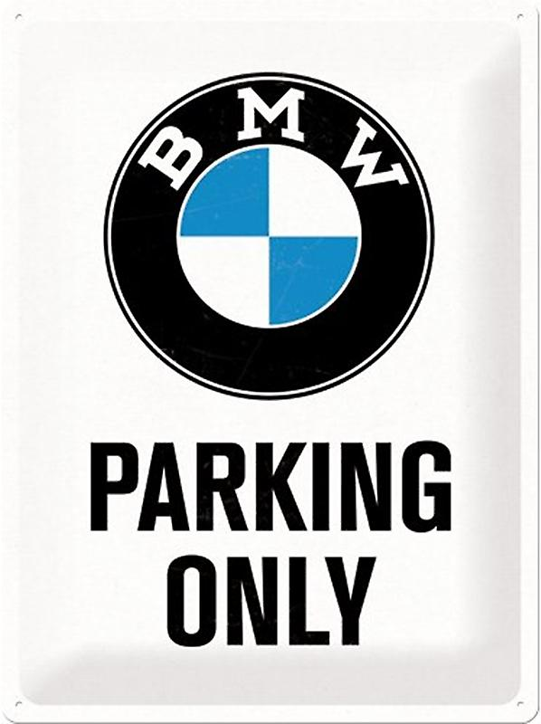 BMW Parking Only large embossed metal sign 400mm x 300mm (na)