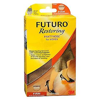 Futuro restoring pantyhose for women, firm, nude, medium, 1 pair