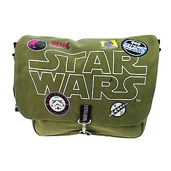Barnas Star Wars patcher lerret messenger bag