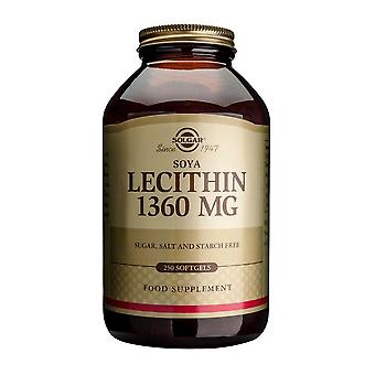 Solgar Soya Lecithin (Unbleached) 1360mg Softgels, 250