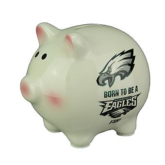 Philadelphia Eagles Born To Be An Eagles Fan Ceramic Piggy Bank