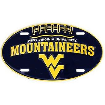 West Virginia Mountaineers NCAA Oval License Plate