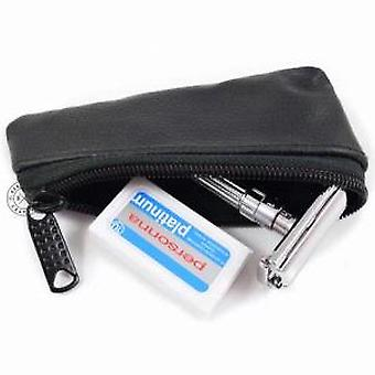 Safety Razor Leather Travel Case
