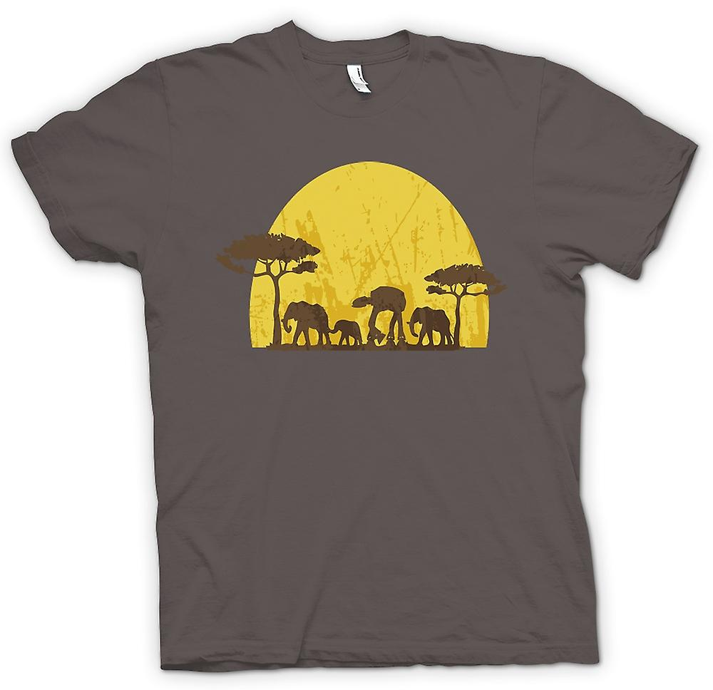 Womens T-shirt - Star Wars-Safari - Elefant und ATAT