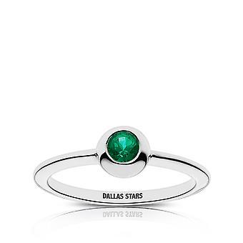 Dallas Stars Dallas Stars Grabado Anillo Esmeralda