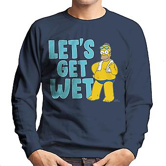 The Simpsons Lets Get Wet Men's Sweatshirt