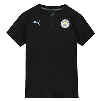 2019-2020 Manchester City Puma Casuals Polo Shirt (Black) - Kids
