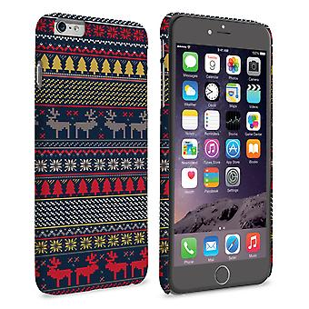 Caseflex iPhone 6 Plus and 6s Plus Reindeer Christmas Jumper Hard Case - Navy and Yellow