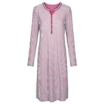 Rosch 1193515-16415 Women's Smart Casual Blush Pink Striped Mix Cotton Nightdress