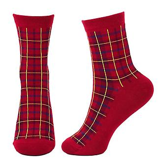 Red Tartan Crew Socks