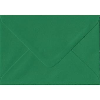 Xmas Green Gummed C6/A6 Coloured Green Envelopes. 100gsm FSC Sustainable Paper. 114mm x 162mm. Banker Style Envelope.