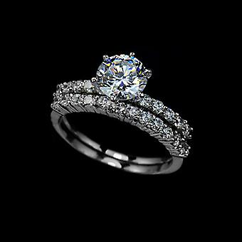 Bridal Collection - 1.75 Carat Swiss Cubic Zirconia Ring Set