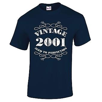 Men's 18th Birthday T-Shirt Vintage 2001 Novelty Gifts For Him