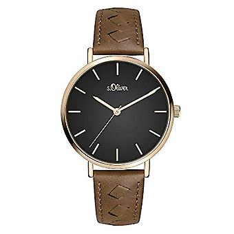 s.Oliver Quartz Women's Analog Clock with SO-3844-LQ Leather Belt