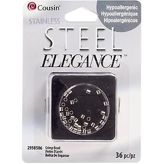 Stainless Steel Elegance Beads & Findings-Crimp Beads 36/Pkg SS29505-06