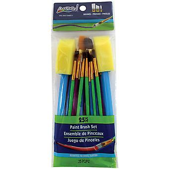 Paint Brush Set Assorted 25/Pkg-  PA1986