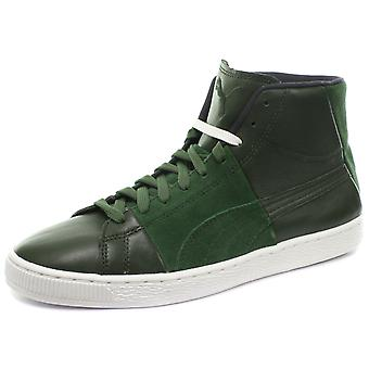 Puma Suede Mid X Curiosity Green Unisex Trainers
