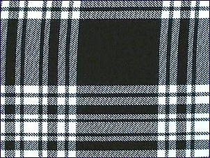 Menzies Black/White, Modern - Pure Wool Tartan