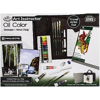 Art instructeur huile couleur Travel Set-grand - 26pc RKC406