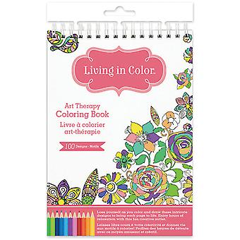 Living In Color Art Therapy Coloring Book -Gardenia LIC600-A