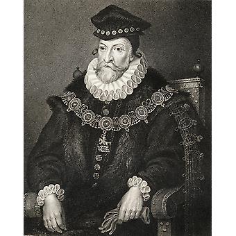 Edward Clinton 1512-1584 comte de Lincoln du livre LodgeS Portraits britannique publié Londres 1823 PosterPrint