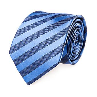 Pelo classic tie silk silk tie blue striped Navy
