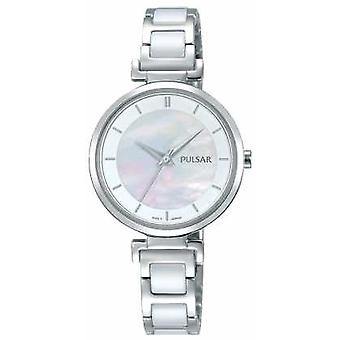 Pulsar Ladies Stainless Steel Ceramic Pearl Dial PH8269X1 Watch