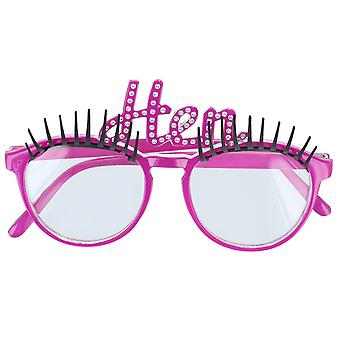 Hen Night Glasses with Eyelashes & Clear Lenses Party Acessory
