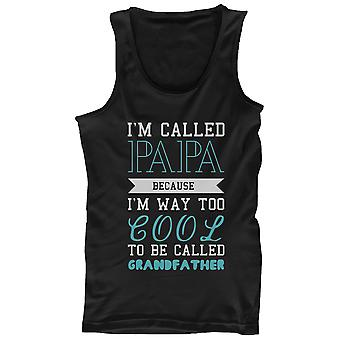 Cool To Be Called Grandfather Funny Tank Top PaPa Tanks - Gift for Grandpa