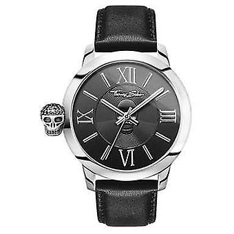 Thomas Sabo Mens Rebel With Karma Stainless Steel Black Leather WA0297-218-203-46 Watch