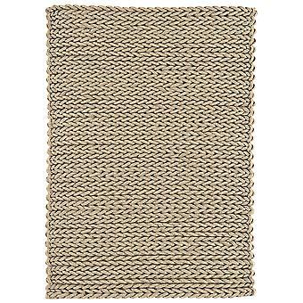 Santa Ana Brown Chunky Knitted Wool Rug